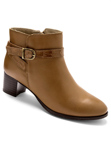 Boots en cuir - Pédiconfort - Camel