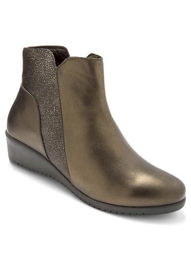 Boots cuir bicolore - Pédiconfort - Marron/mordoré