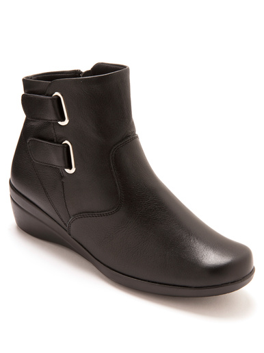 Boots à pattes auto-agrippantes - Charmance - Noir
