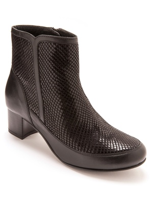 Boots en cuir à aérosemelle®
