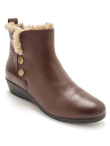 Boots cuir à aérosemelle® - Pédiconfort - Marron