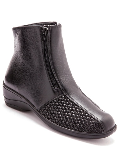 Boots pieds sensibles grande largeur - Pédiconfort - Noir