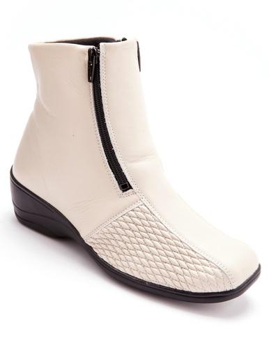 Boots pieds sensibles grande largeur - Pédiconfort - Beige