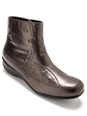 Boots à bouts carrés en cuir