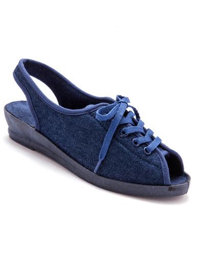 Sandales pieds douloureux ultra-souples - Charmance - Bleu jean