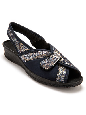 Sandales textile spécial hallux valgus
