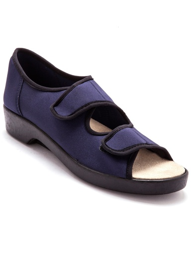 Sandales extra larges maille extensible - Pédiconfort - Marine