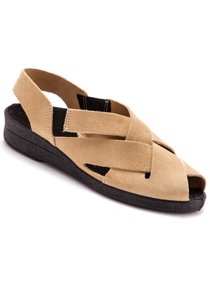 Sandales ultra-souples en cuir velours