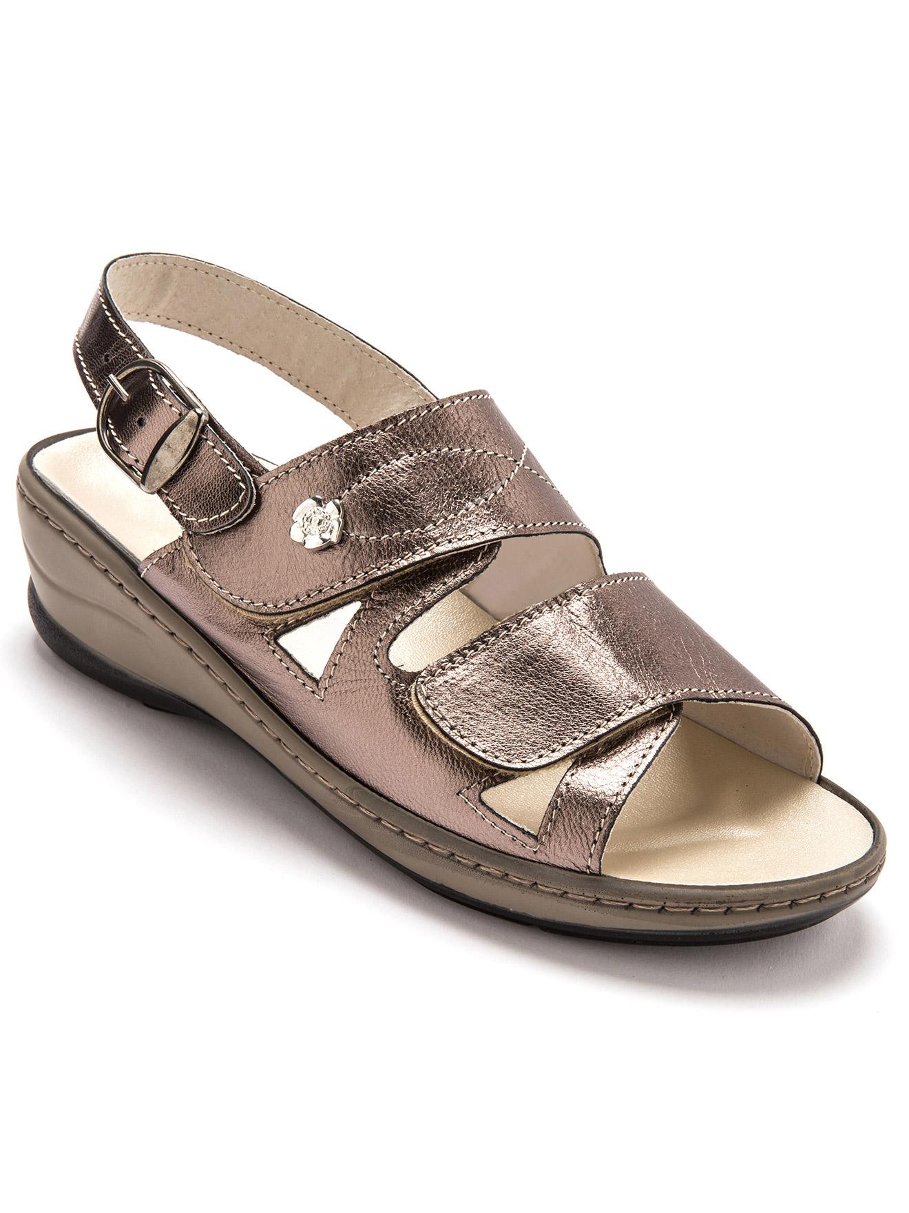 Sandales cuir à aérosemelle® Pédiconfort Femme | Daxon
