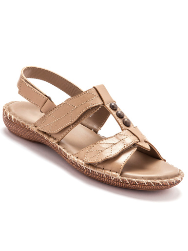 Sandales ultra souples en cuir - Pédiconfort - Beige