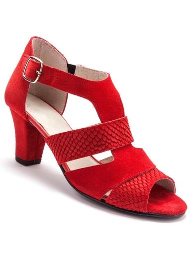 Sandales arrière fermé largeur confort - Pédiconfort - Rouge
