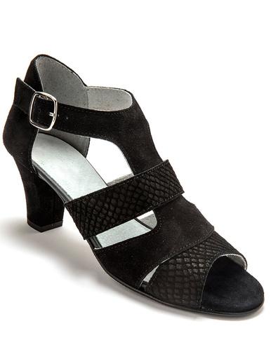Sandales arrière fermé largeur confort - Pédiconfort - Noir