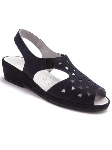 Sandales ultra souples cuir aérosemelle® - Pédiconfort - Marine