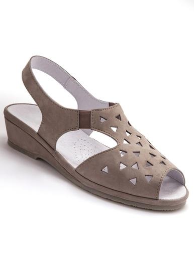Sandales ultra souples cuir aérosemelle® - Pédiconfort - Beige