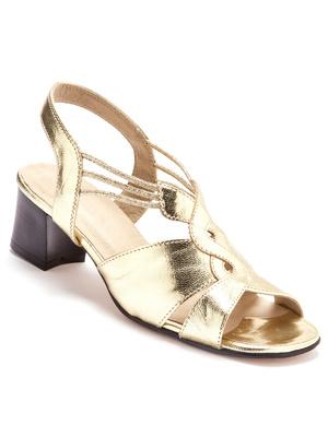 Sandales grande largeur en cuir