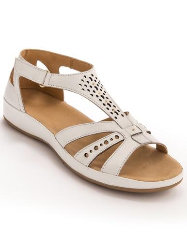 Sandales cuir ajouré - Pédiconfort -