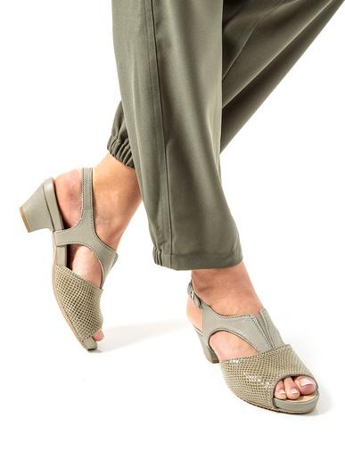 Sandales cuir fantaisie aérosemelle® - Pédiconfort - Gris