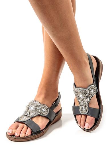 Sandales à aérosemelle® extra larges - Pédiconfort - Gris