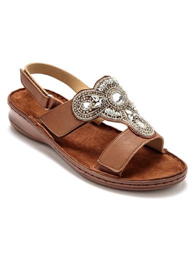 Sandales à aérosemelle® extra larges - Pédiconfort - Marron