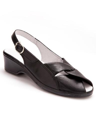 Sandales en cuir au confort maxi - Pédiconfort - Noir