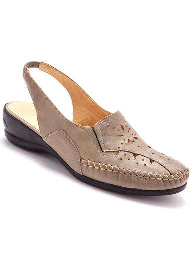 Sandales ajourées talon 4cm - Pédiconfort -