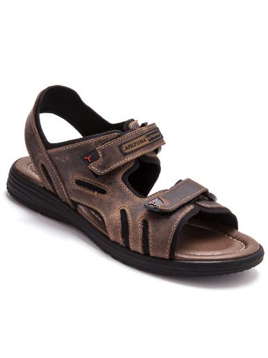 Sandales à ouverture totale - Pédiconfort - Marron