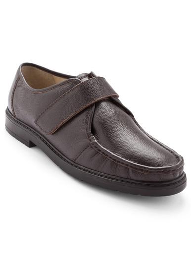 Derbies cuir grande largeur - Pédiconfort - Marron