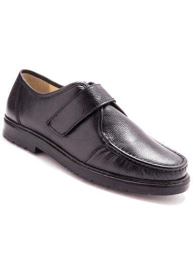 Derbies cuir grande largeur - Pédiconfort - Noir