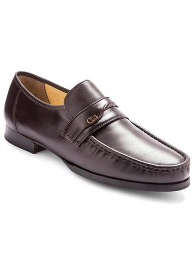 Mocassins cuir grande largeur - Pédiconfort - Marron