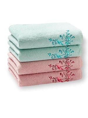 Lot de 4 serviettes-éponge pur coton