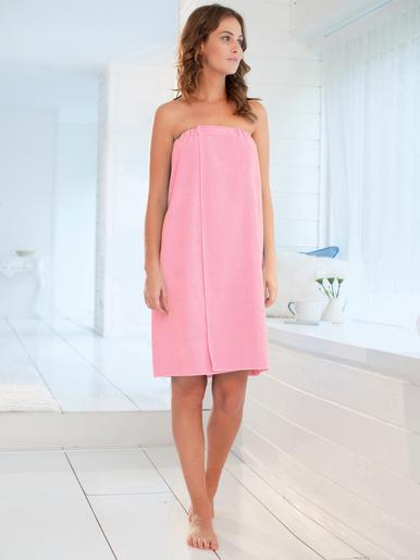 Robe en éponge spécial sortie de douche - Carré d'azur - Rose