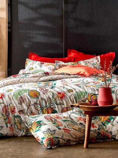 Housse de couette style oriental - Becquet - Motif fleurs stylisées