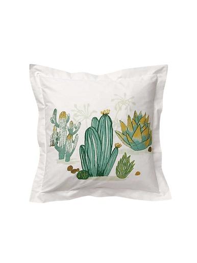Taie d'oreiller cactus - Becquet - Effet de frise cactus