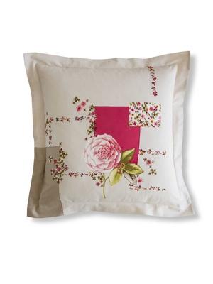 Taie d'oreiller fleuri rose