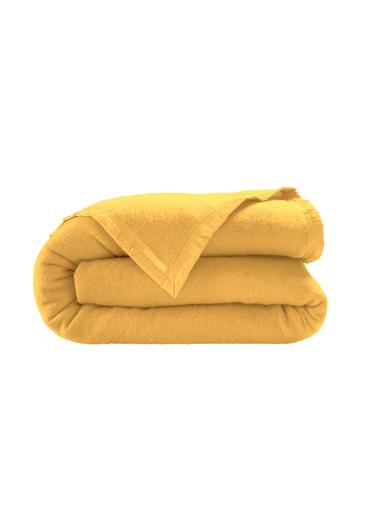 Couverture pure laine vierge 350g/m2 - Carré d'azur - Beige