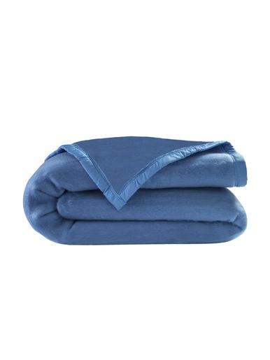 Couverture courtelle 330g/m2 - Carré d'azur - Bleuet