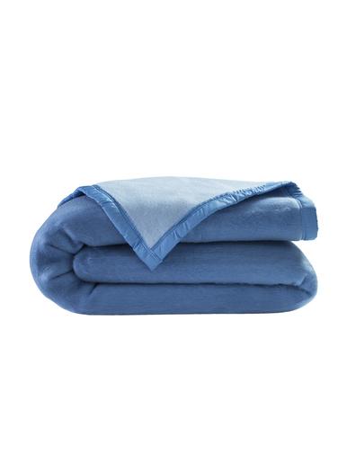 Couverture en courtelle - Carré d'azur - Bleuet