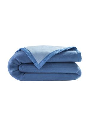 NOUVEAU * très douillet bleu Foncé Microfibre Couverture Couverture de jour xl 180x220 cm
