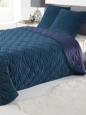 Couvre-lit en velours matelassé