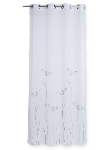 Panneau en étamine - Carré d'azur - Blanc/gris