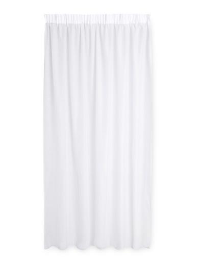 Rideau texturé prêt-à-poser - Carré d'azur - Blanc