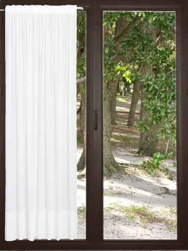Panneau en polyester/lin base Cornely - Carré d'azur - Blanc