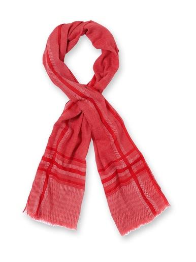 Chèche effet tweed, pur coton - Honcelac - Rouge
