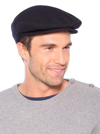 Casquette drap 80% laine 20% cachemire - Honcelac - Marine
