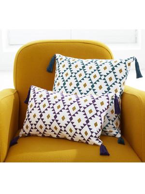 Lot de 2 coussins motifs géométriques