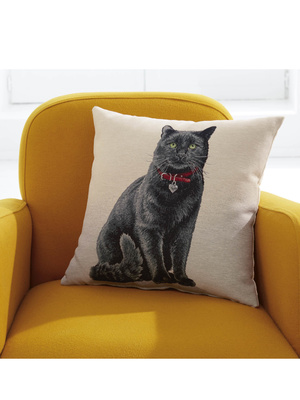 Housse de coussin motif chat