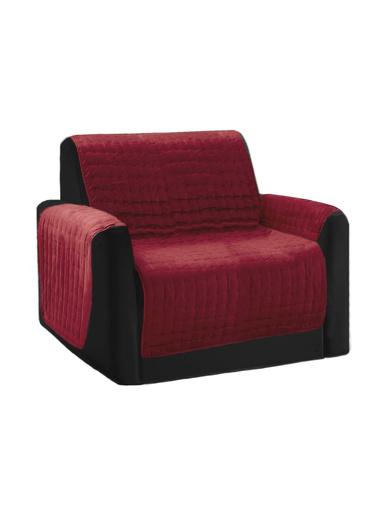 Protège-fauteuil matelassé antiglisse - Carré d'azur - Rouge