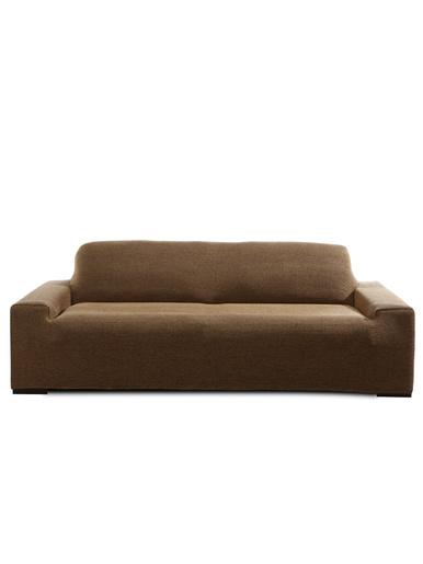Housse de canapé intégrale extensible -  - Marron/noir