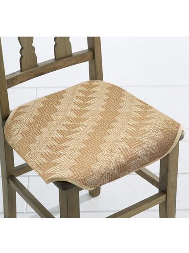 Galette de chaise paille lot de 2 - Carré d'azur - Paille