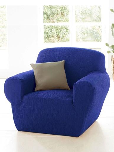 Housse de fauteuil universelle - Carré d'azur - Bleu